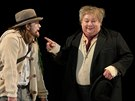 Divadlo Petra Bezru�e uv�d� hru �ek�n� na Godota. Na sn�mku Norbert Lich�...