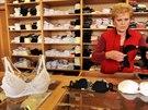 Podniková prodejna Spoltexu Kravaře na snímku z 29. října.