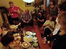 Jan Kačer oslavil s rodinou 78. narozeniny.