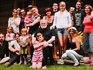 Jan Ka�er se svou velkou rodinou