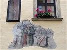 Freska na domě č. 226 v olomoucké Univerzitní ulici.
