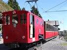 Schynige Platte Bahn. Cílová stanice. Výška 1967 metrů