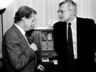 Václav Havel a Václav Klaus na snímku z roku 1992