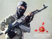 Snímek d�tského vojáka, kterým se na Twitteru chlubí Islámský stát.