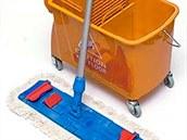 MOPSET - Úklidový vozík, mop, tyč, návlek