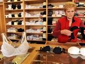 Podniková prodejna Spoltexu Krava�e na snímku z 29. �íjna.