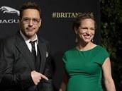 Robert Downey Jr. a jeho těhotná manželka