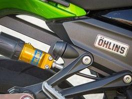 Podvozek od švédské firmy Öhlins je tím nejlepším na trhu, s motorkou dokáže divy.
