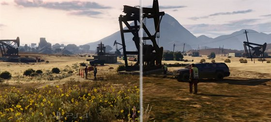 Grand Theft Auto V pro PlayStation 4 versus PlayStation 3