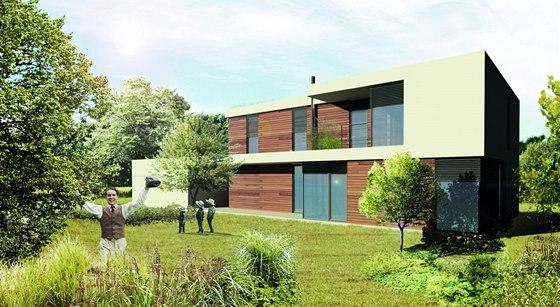 Vizualizace: Individuální dům se navrhuje podle pozemku i přání investora, ale i tak musí splnit předpisy dané oblasti.