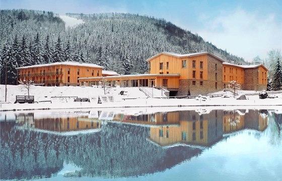 Cena čtenářů mediálních partnerů patří projektu Apartmány Medvědín ve Špindlerově Mlýně.