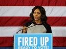 Do volební agitace se zapojila i první dáma USA Michelle Obamová (1. listopadu 2014)