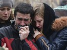 Pohřeb chlapců, kteří zahynuli při ostřelování Doněcku (8. listopadu 2014)