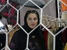Zakladatelka spojeného sportovního klubu v Džiddě Lina Al-Maýna (1. května 2014).