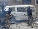 Boje v druhém největším městě Libye Benghází (30. října 2014).