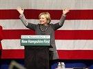 Hillary Clinton na předvolebním setkání v New Hampshiru (2. listopadu 2014).