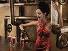 Eva Greenová v kalendáři Campari pro rok 2015 - únor