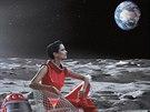 Eva Greenová v kalendáři Campari pro rok 2015 - červenec