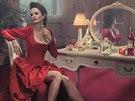 Eva Greenová v kalendáři Campari pro rok 2015 - leden