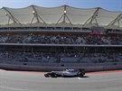 Lewis Hamilton v kvalifikaci na Velkou cenu USA.