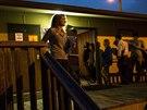 Voliči v texaském Austinu čekají, aby si mohli zvolit své zástupce v Kongresu (4. listopadu 2014).