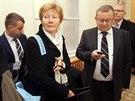 Jana Hendrichov�, n�m�stkyn� tehdej��ho vicepremi�ra Alexandra Vondry, p�ed...