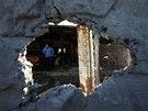 Následky ostřelování na doněckém předměstí (6. listopadu 2014)