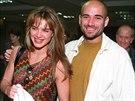 Brooke Shieldsová a Andre Agassi v roce 1997