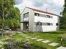 Vizualizace: Moderní domy včetně typových dávají dnes přednost jednoduchým tvarům.