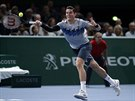 Kanadský tenista Milos Raonic ve finále turnaje v Paříži.