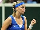 Petra Kvitová během finále Fed Cupu s Německem.