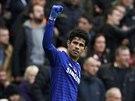 Diego Costa z Chelsea se raduje, právě se prosadil proti Liverpoolu.
