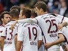 Gólová radost hráčů Bayernu Mnichov