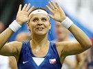 RADOST. Lucie Šafářová porazila ve finále Fed Cupu německou protivnici Angelique Kerberovou.