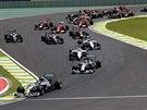Momentka z Velké ceny Brazílie formule 1