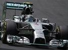 Nico Rosberg na trati Velké ceny Brazílie formule 1