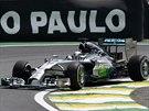 Lewis Hamilton na trati Velké ceny Brazílie formule 1
