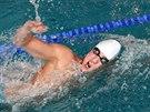 Ondřej Baumrt vyhrál závod na pět kilometrů v pětadvacetimetrovém krnovském bazénu.