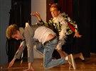 Michaela Dolinová v představení Trapas nepřežiju