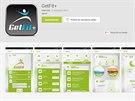 Aplikace GetFit+ pro fitness náramek OP3N DOTT řetězce Tesco.