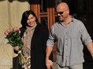 Andrea Kalivodová a její manžel Radek Tögel si z porodnice odvezli syna Adriana.
