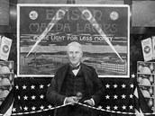 Plakát propagující Edisonovy žárovky z roku 1916