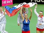 JE TO DOMA! České tenistky slaví zisk Fed Cupu.