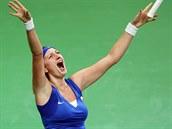 Petra Kvitová právě rozhodla o tom, že české tenistky dobyly Fed Cup.