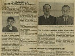 Zpráva o zmařeném atentátu na Hitlera v německém listu Deutsche Allgemeine Zeitung