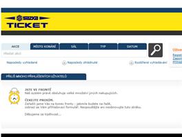 ČEKEJTE PROSÍM. Na zájemce o vstupenky na hokejové MS 2015 v Česku většinou vyskočí tahle hláška.