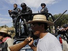 Pátrání po zmizelých studentech v Mexiku (7. listopadu 2014).