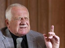 Exprezident Václav Klaus při rozhovoru pro MF DNES. (27. 10. 2014)