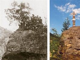 Mravenčí skála na Ztracence 1918 a 2003