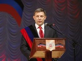 Nový prezident Doněcké lidové republiky Alexandr Zacharčenko složil v úterý přísahu (4. listopadu 2014)